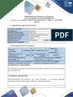 Guía de Actividades y Rubrica de Evaluación - Fase 1 - Actividad Inicial