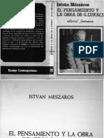 (Xixaro_ Ensayo Contemporánea) István Mészáros-El Pensamiento y La Obra de G Lukacs-Fontamara (1981)