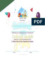 Diploma de Campamento