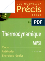 Precis Thermodynamique
