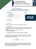 Electricidad y Magnetismo - Guía 1