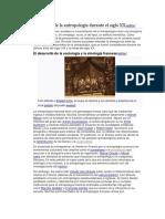 El Devenir de La Antropología Durante El Siglo XX