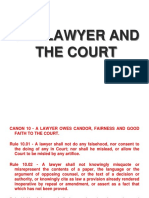 The Lawyer and the Court
