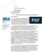 ACLU Letter to Sheriff David Morgan