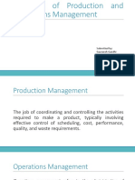 Evolution of production and operations management