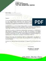 Demolition Letter