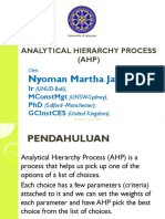 RSPK - Analitical Hierarchy Process (AHP)