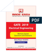 EE GATE2019 Paper solutions