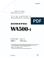 Sm-komatsu Wa500-1 Wheel Loader Service Manual