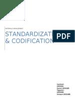 Standardization Codification