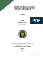 Pengetahuan, Keyakinan Dan Penggunaaan Antibiotik Pada Masyarakat Di Kelurahan Hutaraja Kecamatan Muara Batang Toru Kabupaten Tapanuli Selatan
