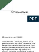 Dosis Maksimal