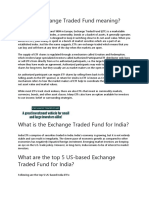 What is Exchange Traded Fund Meaning