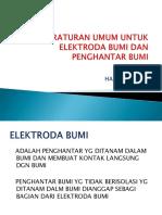 Peraturan Umum Untuk Elektroda Bumi Dan Penghantar Bumi