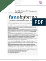 A Urbino la IX edizione del Campionato Nazionale delle Lingue - Fanoinforma.it, 11 febbraio 2019
