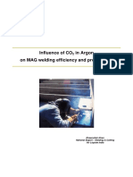 Influence of CO2 in Argon on MAG Weld