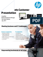 HP Thin Clients Customer Presentation. Craig Allen Market Development Manager Thin Client Solution July, 2014