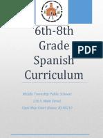 Middle School Spanish Curriculum 6 8