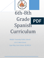 Middle School Spanish Curriculum 6 8
