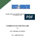 ME Applied Electronics III Sem