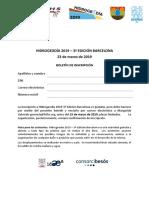 3º Hidrogeodía 2019 - Boletín de inscripción