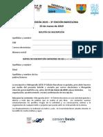 3º Hidrogeodía 2019 - Boletín de inscripción para menores de edad