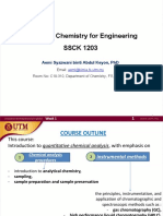 WEEK 1 Introduction to Analytical Chemistry
