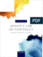 Anson 39 s Law of Contracts 2010