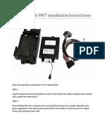 VW Bluetooth 9W7 Installation Instructions