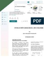 Dlscrib.com 1993 Toussaint Evolucion Geologica de Colombia
