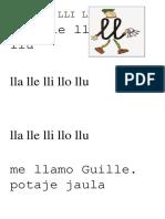 LLA LLE LLI LLO LLU