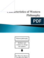 Characteristics of Western Philosophy