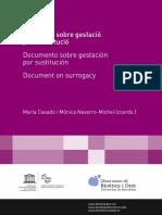 Documento de gestación por sustitución