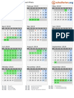 Kalender 2019 Rheinland Pfalz Hoch