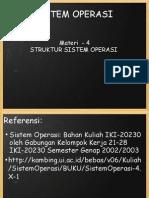 Mata Kuliah Sistem Operasi Materi - 4, Struktur Sistem Operasi