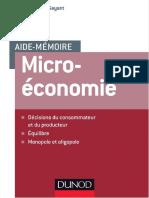 Aide-Mémoire Microéconomie