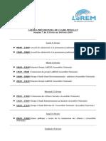 Agenda, Semaine 7