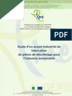 Etude de Projet – Fabrication de Pièces de Décolletage Pour l'Automobile