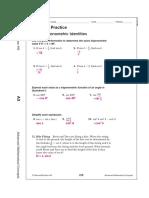 7.1 - Basic Trigonometric Identities