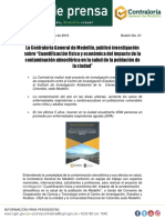 Boletín 01 Investigación Impacto Contaminación