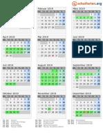 Kalender 2019 Bayern Hoch