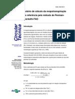 Evapotranspiração (Penman Monteith)
