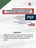 Materialidad Auditoria Francisco Borras
