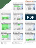 Kalender 2019 Berlin Hoch