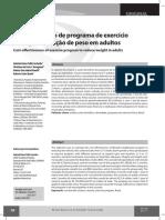 Custo Benefício de Programa de Exercício Físico Para Redução de Peso Em Adultos. Revista Brasileira de Atividade Física e