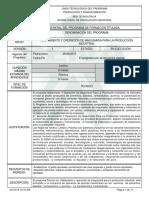 Informe Programa de Formación Titulada Alistar Maquinaria Para La Produccion Industrial