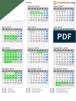 Kalender 2019 Brandenburg Hoch