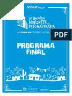 programação congresso estomaterapia 2018