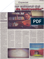 """La labor cultural del """"Centro de Instrucción"""", Mario Rommel Arce Espinoza"""