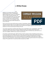 Combat Mission AFRica Corps Armor